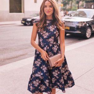 Gal Meets Glam Jenny Wallpaper Rose Frill Dress 2